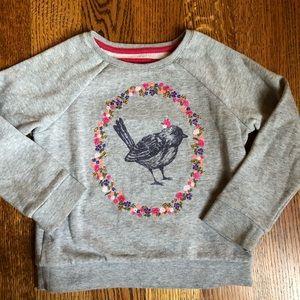 Mini Boden bird sweatshirt